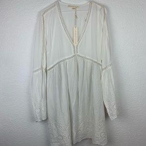 Love stitch white boho eyelet dress